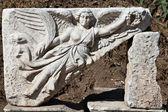 A relief in Ephesus city — Stock Photo