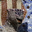 Dragon's head fountain Parc Guell, Barcelona — Stock Photo