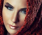 精致女人时尚风格肖像 — 图库照片