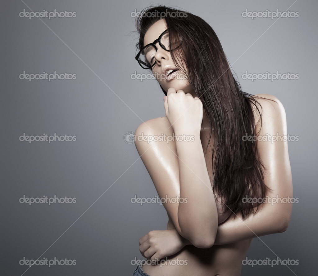 Brunette in a glasses — Stock Photo #9195973