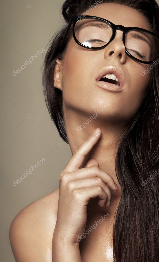 Brunette in a glasses  Foto Stock #9196026