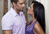 Romantic photo of attractive young couple — Stock Photo