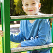 Portrait of happy joyful beautiful little boy — Stockfoto
