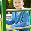 Portrait of happy joyful beautiful little boy - Stock Photo