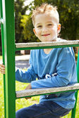 Portrait of happy joyful beautiful little boy — Stock Photo