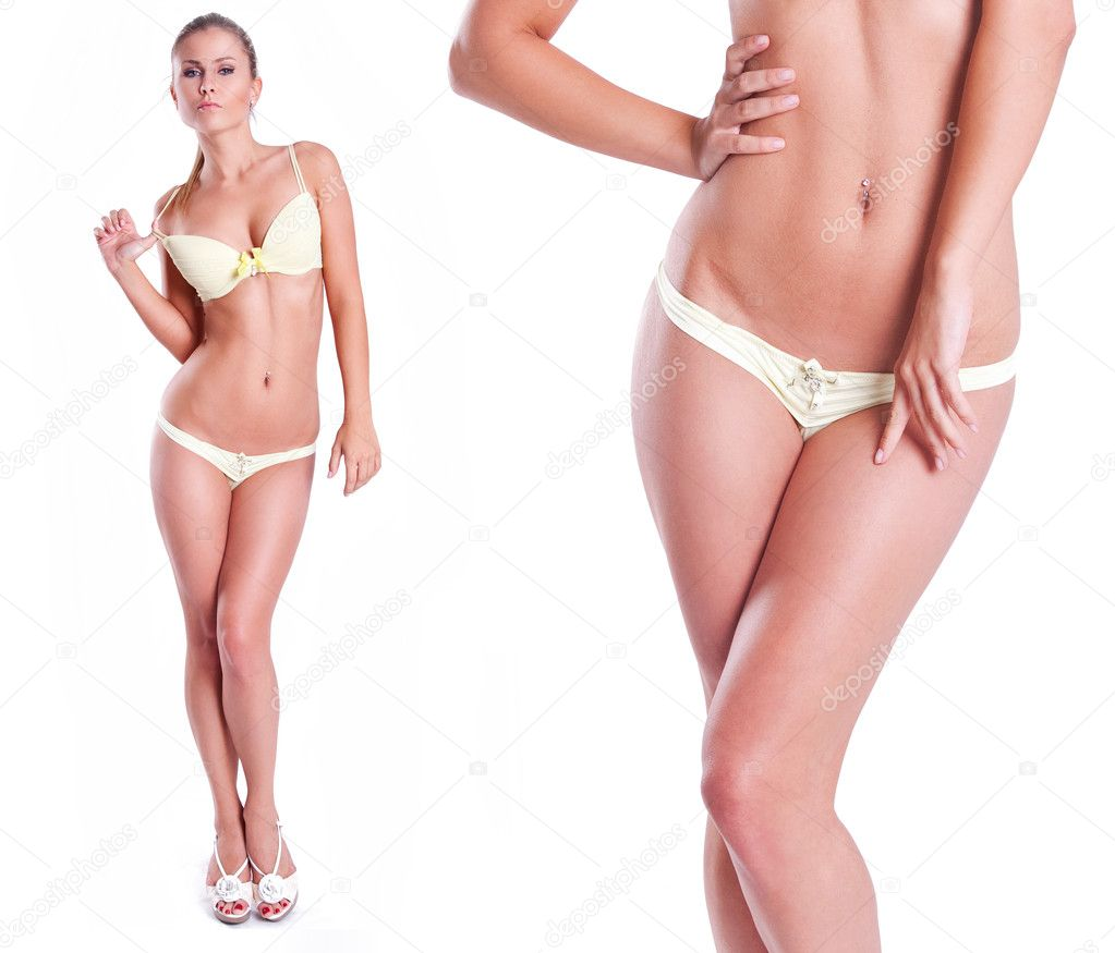 Female body on white  — Stock Photo #9250067