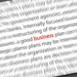 Blurred business text - Stock Photo