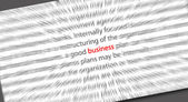 Texto de negocios borrosa — Foto de Stock