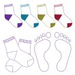 Socks set illustration on white background — Stock Vector