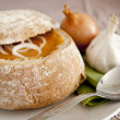 Soup in a bread bowl — Stock Photo #10256148