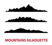 Mountain vector silhouettes — Stock Vector