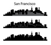 San Francisco silhouette — Stock Vector