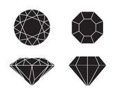 Diamonds on white background — Stock Vector