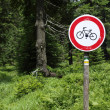 A stop bike sign — Stock Photo