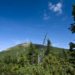 Panorama of The Krkonose Mts. National Park-Czech Republic — Stock Photo