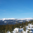 Winter panorama of Krkonose mountains, Czech Republic — Stock Photo