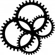 Black sprocket on white background - Stock Photo