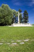 Obelisk on Gothard hill in Horice, Czech republic — Stock Photo