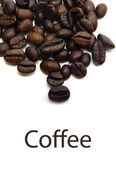 Coffee Beans with text — Stock Photo