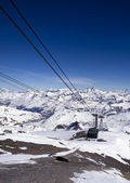 Funicular railway to glacier grande motte — Stock Photo