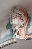 Leiter der putz auf der fassade — Stockfoto