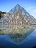 Paris - Louvre Pyramid — Stock Photo
