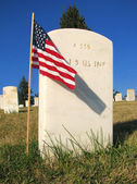 Custer National Cemetery in Montana, USA — Stock Photo