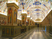 The Sistine Hall of the Vatican Library — Stock Photo