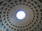 The Pantheon ceiling in Rome - Italy — Stock Photo