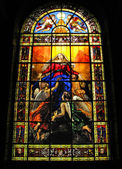 Stained Glass in Church of Notre Dame de Lorette — Stock Photo