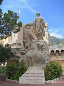 Memorial Statue in Monaco — Stock Photo