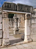 Ruins of the Capernaum Synagogue in Israel — Stock Photo