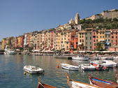 Colorful city of Portovenere, Mediterranean coast, Italy — Stock Photo