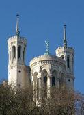 Basilica of Notre Dame de Fourvière in Lyon, France — Stock Photo