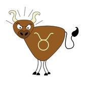 Znaki zodiaku - BYK — Stock Vector