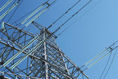 Electrical transmission pylon — Stock Photo