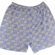 A pair of blue boxer shorts — Stock Photo