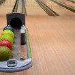 Stock Photo: Interior of a bowling alley