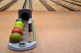 Interior of a bowling alley — Stock Photo