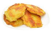 Potato pancakes on a plate — Stock Photo
