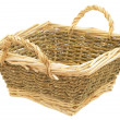 Light wicker basket — Stock Photo