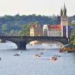 View of the Vltava River, Prague, Czech Republic — Foto Stock