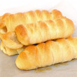 Sausage in the dough — Stock Photo