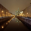 St-Petersburg, Russia at night - Stock Photo