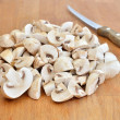 Fresh sliced mushrooms champignon — Stock Photo #9124790