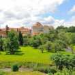The gardens of the castle of Cesky Krumlov — Stockfoto