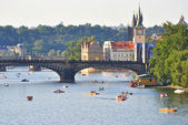 View of the Vltava River, Prague, Czech Republic — Stock Photo