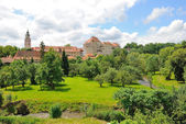 The gardens of the castle of Cesky Krumlov — Stock Photo