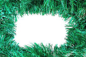 Empty green Christmas frame — Stockfoto