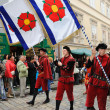 Stock Photo: Five-petalled Rose Festival in Cesky Krumlov